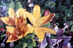 Picturi cu flori Un colt din gradina raiului