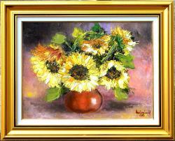 Picturi cu flori BOL CU FLOAREA SOARELUI