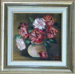 Picturi cu flori BOL CU TRANDAFIRI