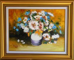 Picturi cu flori Buchet in vaza
