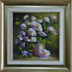 Picturi cu flori FLORI ALBE IN VAZA 3