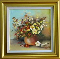 Picturi cu flori FLORI ALBE SI ROSII