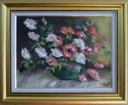 Picturi cu flori FLORI ALBE SI ROSII3