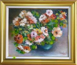 Picturi cu flori FLORI ALBE SI ROSII4