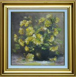 Picturi cu flori FLORI GALBENE DE TOAMNA
