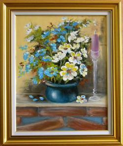 Picturi cu flori FLORI PE SEMINEU