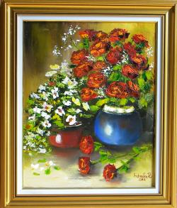 Picturi cu flori GHIVECE CU FLORI