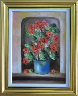 Picturi cu flori GHIVECI CU MUSCATA