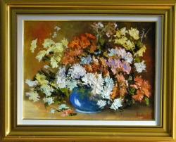 Picturi cu flori IN CULORI DE TOAMNA