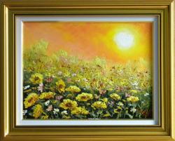 Picturi cu flori SCALDAT DE SOARE