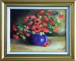 Picturi cu flori SURAS DE MACI