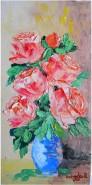 Picturi cu flori Trandafiri in vaza