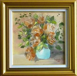 Picturi cu flori Trandafiri  portocalii