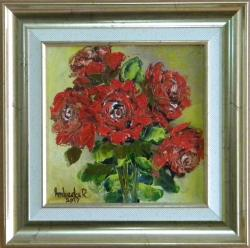 Picturi cu flori TRANDAFIRI ROSII 2