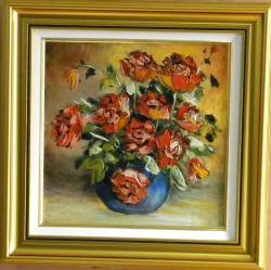 Picturi cu flori TRANDAFIRI ROSII IN VAZA3
