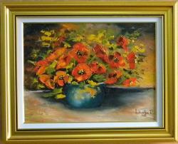 Picturi cu flori UN BOL CU MACI