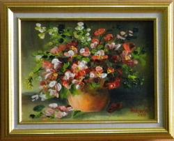 Picturi cu flori UN MIC BUCHET