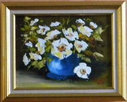 Picturi cu flori VAZA CU FLORI ALBE 2