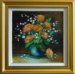 Picturi cu flori ZAMBET DE TRANDAFIRI