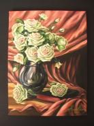 Picturi cu flori Trandafiri albi