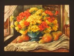 Picturi cu flori Tufanele si pere