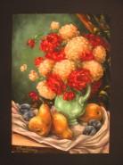 Picturi cu flori Vas cu crizanteme