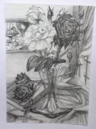 Picturi cu flori Vaza cu trandafiri