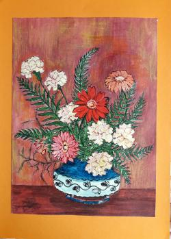 Picturi cu flori Gherbere si Garoafe