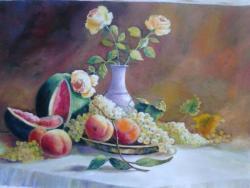 Picturi cu flori in ciuda iernei