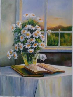 Picturi cu flori margarete n