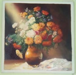 Picturi cu flori ol cu crizanteme n