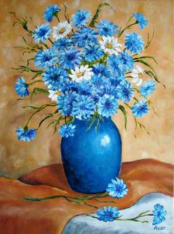 Picturi cu flori Albastrele -