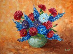 Picturi cu flori buchet de flori, in vaza