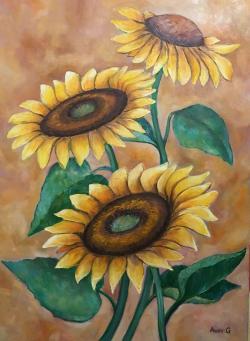 Picturi cu flori Floarea soarelui -4