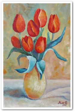Picturi cu flori Lalele -