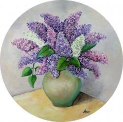 Picturi cu flori Liliac in vaza