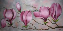 Picturi cu flori Magnolii ...