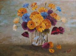Picturi cu flori Manunchi de flori