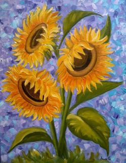 Picturi cu flori Sunflowers -2