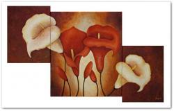 Picturi cu flori Tablou cale 3 buc