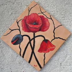 Picturi cu flori Tablou decor cu maci -