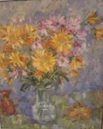Picturi cu flori Crizanteme ruginii