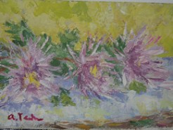 Picturi cu flori Trei crizanteme