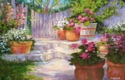 Picturi cu flori Gradina cu muscate