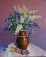 Picturi cu flori Liliac