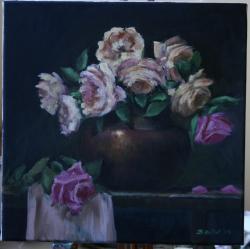Picturi cu flori Trandafiri cu dor