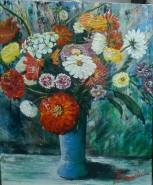 Picturi cu flori Executie in masa