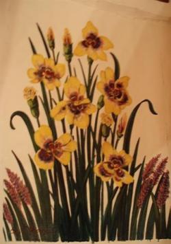 Picturi cu flori branduse galbene
