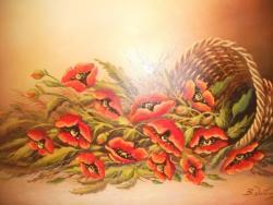 Picturi cu flori Maciu rasturnati