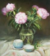 Picturi cu flori Boboci de bujor